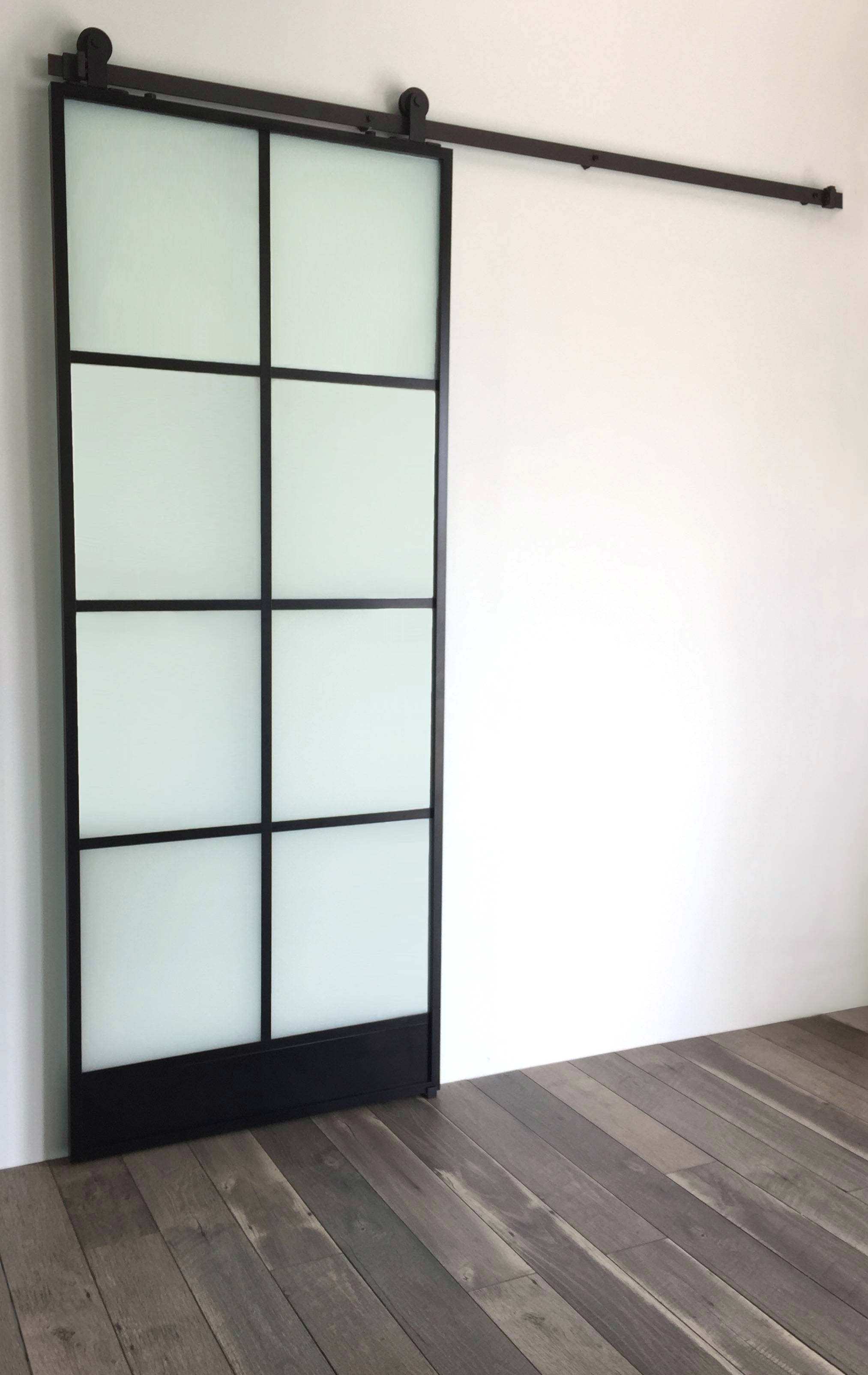 8 Window Glass Door - Black