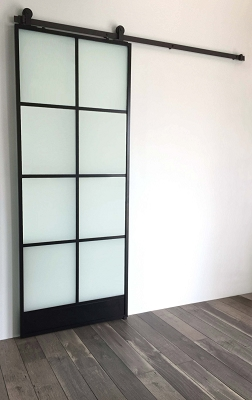 8 Window Glass Door - Black