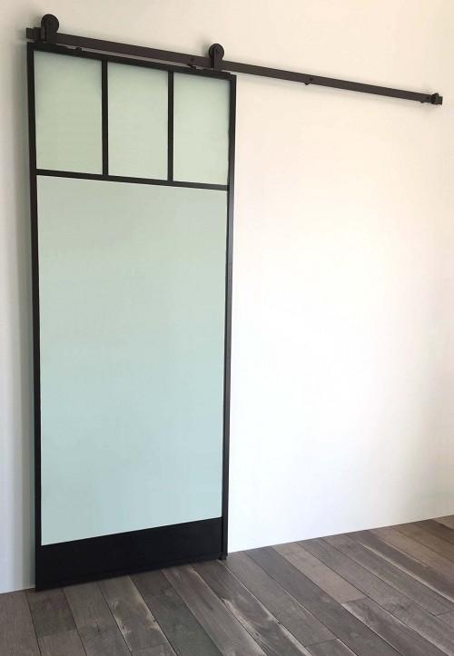 Windowtop Glass Door Black
