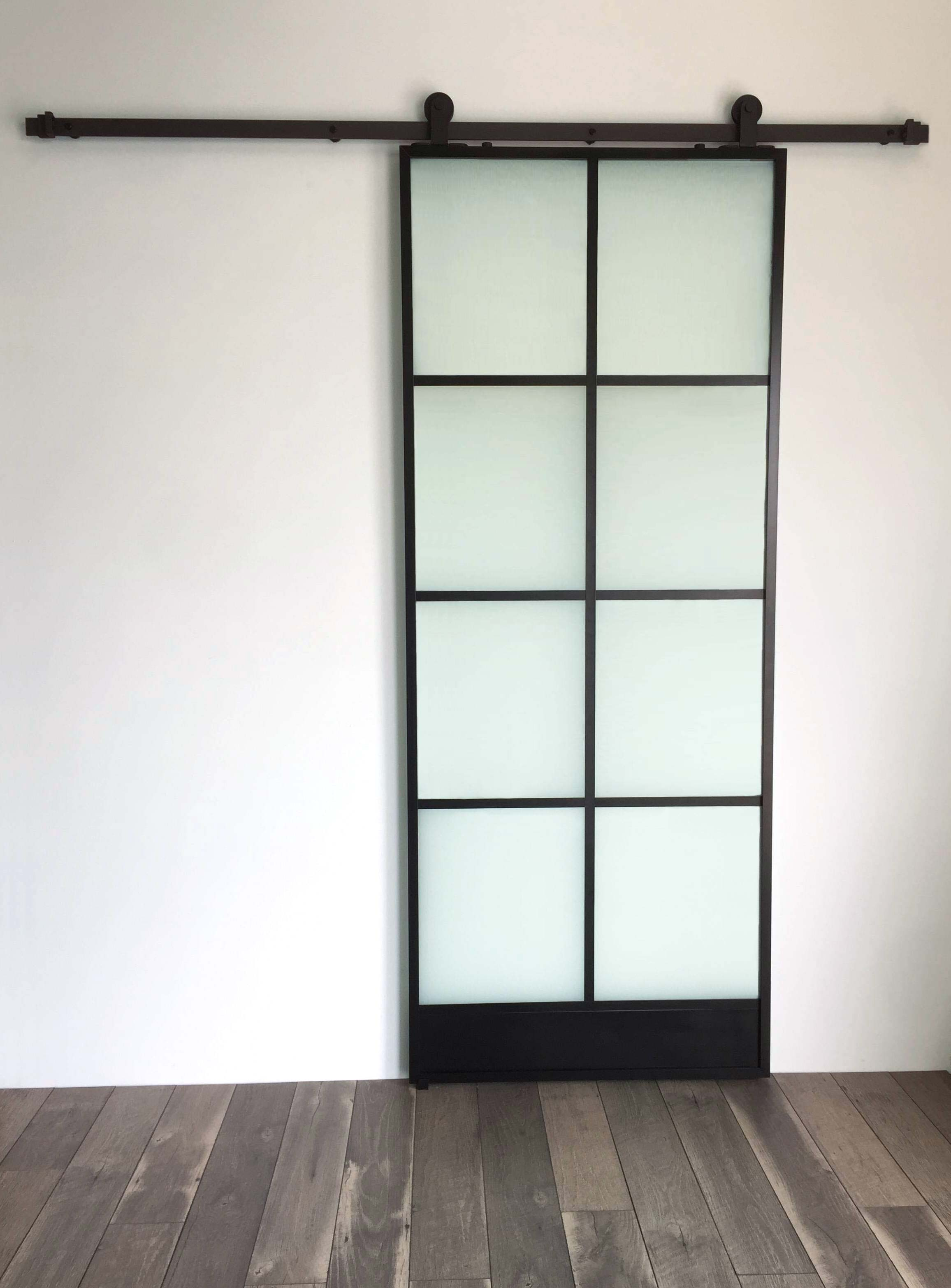 8 Window Glass Door Black